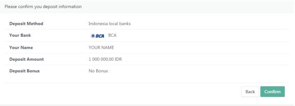 Deposit bank lokal binary option broker Ayrex