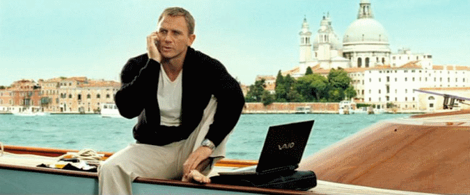 James Bond trading Binary Options?