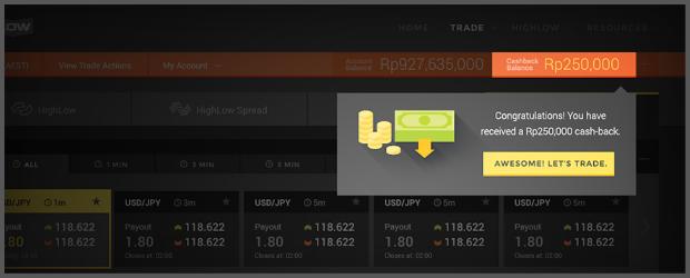 HighLow Trading Bonus