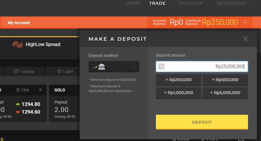 Deposit Melalui Virtual Account